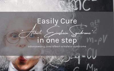 """Easily Cure """"Albert Einstein Syndrome"""" in one step"""
