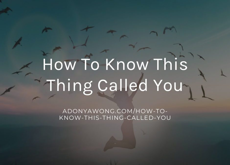 "How to know ""This Thing Called You"""